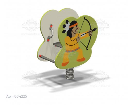 "004225 - Качалка на пружине ""Индеец"""