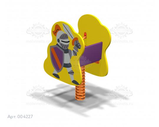 """004227 - Качалка на пружине """"Рыцарь"""""""