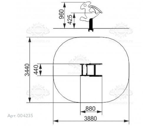 """004235 - Качалка на пружине """"Птеродактиль"""""""