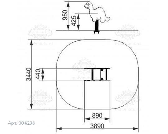 """004236 - Качалка на пружине """"Диплодок"""""""
