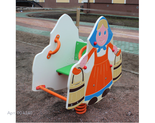 "004240 - Качалка на пружине ""Девочка с коромыслом"""