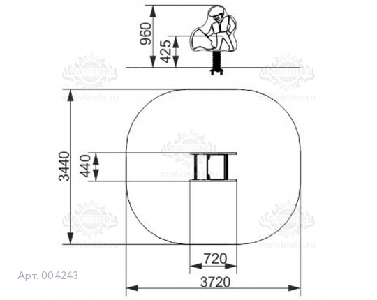 "004243 - Качалка на пружине ""Тореадор"""