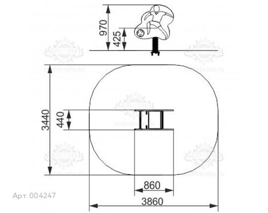 "004247 - Качалка на пружине ""Роналдо"""