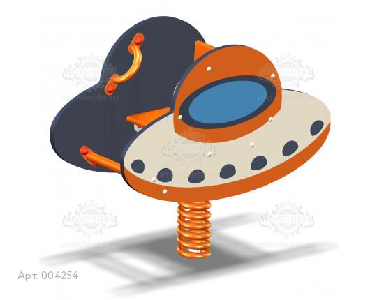"""004254 - Качалка на пружине """"Летающая тарелка"""""""