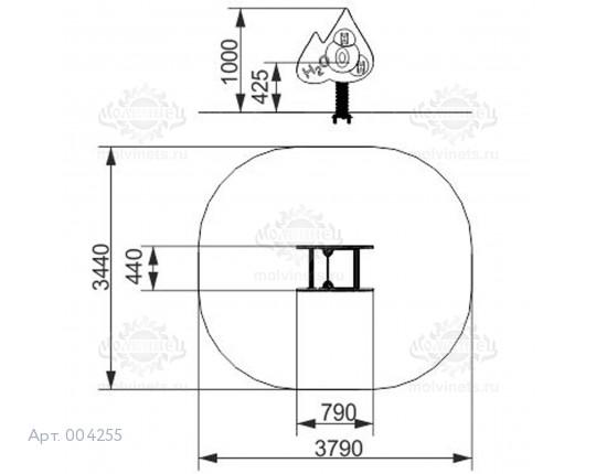 """004255 - Качалка на пружине """"Формула воды"""""""