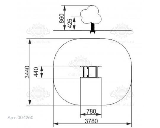 004260 - Качалка на пружине