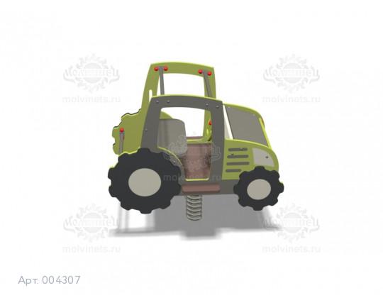 """004307 - Качалка на пружине двойная """"Трактор"""""""