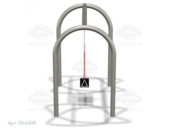 004408 - Каркас качелей на металлических стойках (под один подвес)