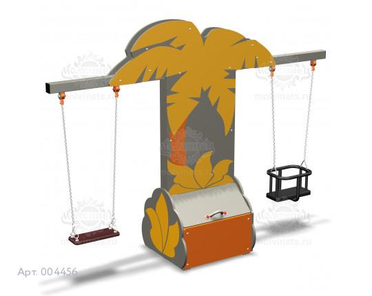 """004456 - Каркас качелей с ящиком для игрушек """"Пальма"""" (под два подвеса)"""