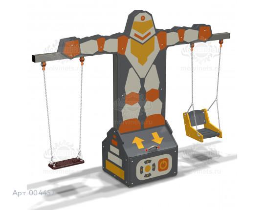 """004457 - Каркас качелей с ящиком для игрушек """"Робокоп"""" (под два подвеса)"""