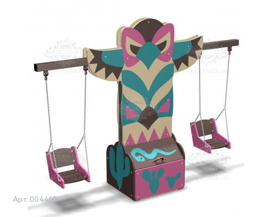 """004460 - Каркас качелей с ящиком для игрушек """"Тотем"""" (под два подвеса)"""