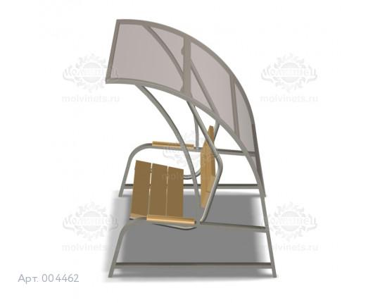 """004462 - Диван маятниковый с навесом """"Отдых"""" на жестком подвесе"""