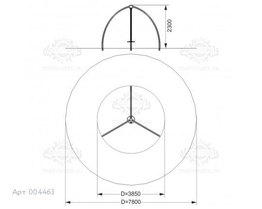 """004463 - Каркас качелей  """"Треуголка"""""""