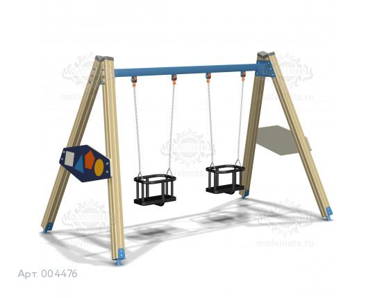 """004476 - Каркас качелей на деревянных стойках """"Геометрия"""""""