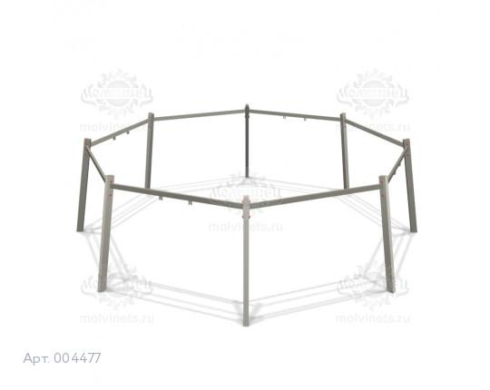 """004477 - Каркас качелей на металлических стойках """"Круг"""" (под четыре подвеса)"""