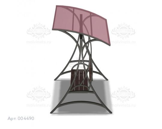"""004490 - Диван маятниковый с навесом """"Париж"""" на жестком подвесе"""