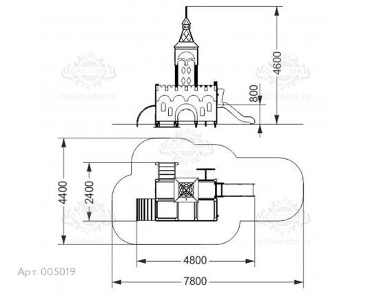 """005019 - Игровой комплекс """"Богатырь Мини"""""""