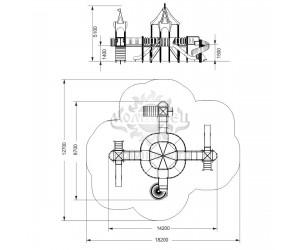 """005342 - Игровой комплекс """"Замок маркиза Карабаса"""""""