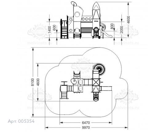 """005354 - Детская площадка """"Байконур"""""""