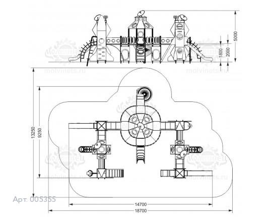 """005355 - Игровой комплекс """"Космос"""""""