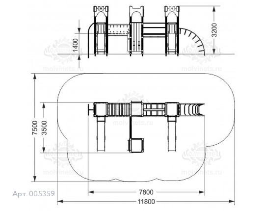 """005359 - Игровой комплекс """"Крепость"""""""