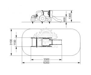 """005606 - Игровой комплекс """"Трактор с горкой"""""""