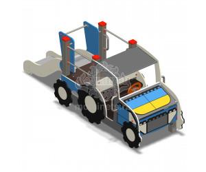 """005609 - Игровой комплекс """"Конструктор Трактор с горкой"""""""