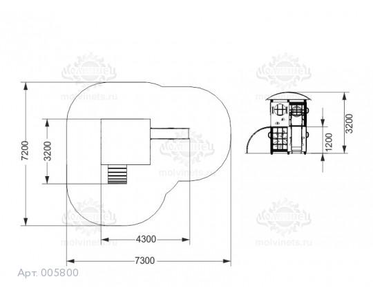 005800 - Игровой комплекс лабиринт