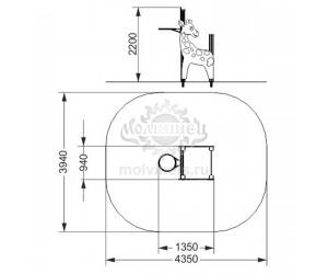 """006108 - Спортивный комплекс с баскетбольным кольцом """"Жирафик"""""""