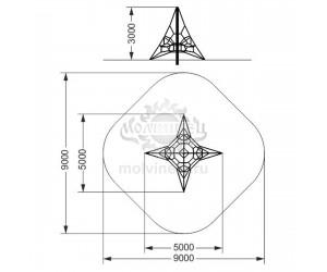 """006218 - Спортивный комплекс """"Пирамида 50"""""""