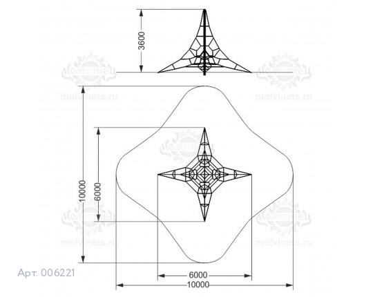 """006221 - Спортивный комплекс """"Пирамида 60"""""""