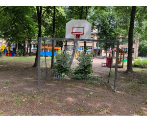 006309 - Ворота гандбольные с баскетбольным кольцом и сетками