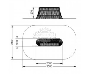 006310 - Ворота хоккейные с сеткой