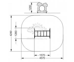 """006320 - Спортивный снаряд-тоннель """"Пальмы"""""""