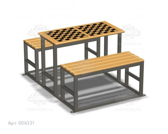 006331 - Игровой стол со скамьями без спинок