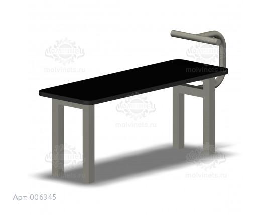006345 - Скамья для пресса горизонтальная с жердью для ног