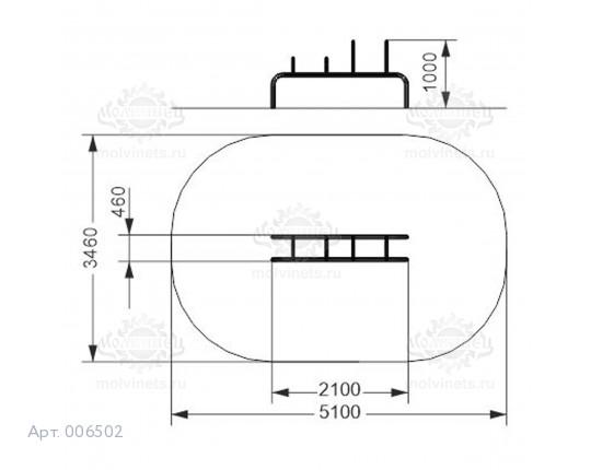 006502 - Брусья-скамья с 4 разноуровневыми упорами