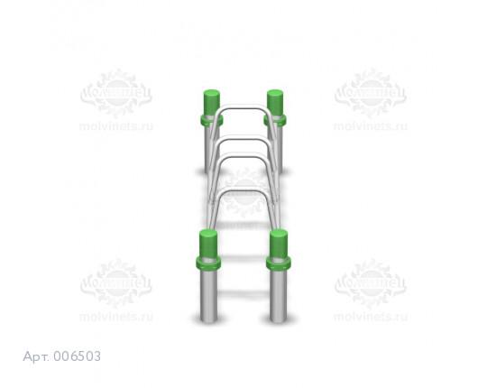 006503 - Брусья-скамья с 4 разноуровневыми упорами