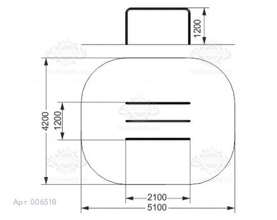 006518 - Брусья двойные параллельные