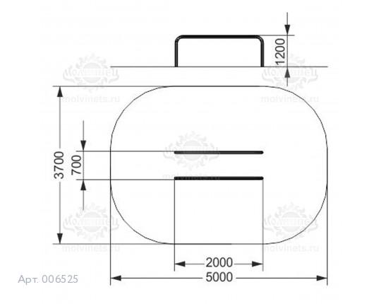 006525 - Брусья низкие параллельные