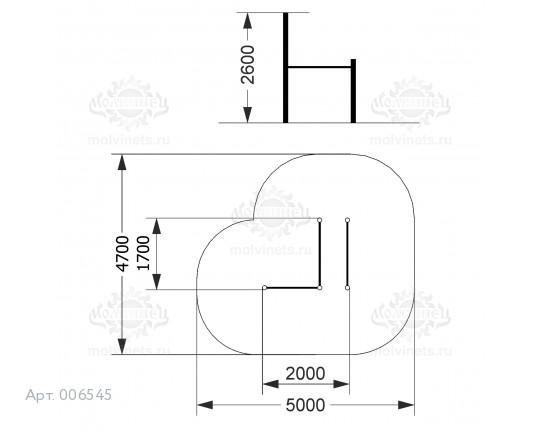 006545 - Воркаут-комплекс с турником и брусьями