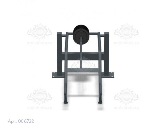 """006722 - Тренажер антивандальный 07.17 """"Становая тяга с изменяемой нагрузкой"""""""