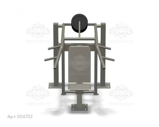 """006723 - Тренажер антивандальный 07.18 """"Жим вверх с изменяемой нагрузкой"""""""