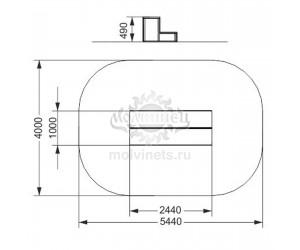 """006903 - Фигура для скейт-парка """"Тумба двухъярусная"""""""