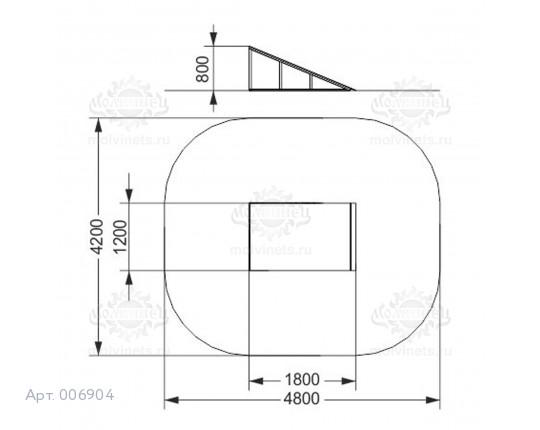 """006904 - Фигура для скейт-парка """"Кикер"""" (Kiker)"""