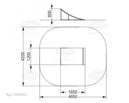 "006905 - Фигура для скейт-парка ""Радиусный Кикер"" (Radius Kiker)"