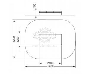 "006906 - Фигура для скейт-парка ""Тумба с рейлом"""