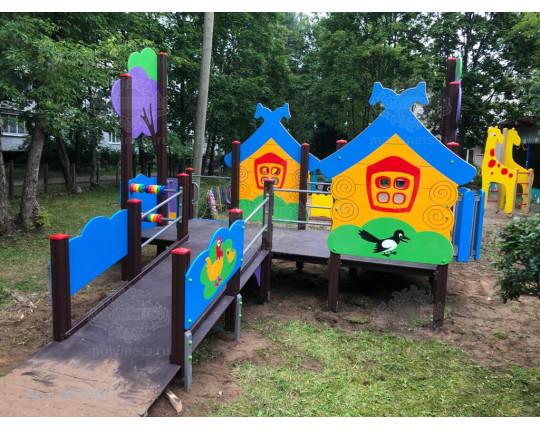 """007001 - Игровой комплекс для детей с ограниченными физическими возможностями """"Деревушка"""""""