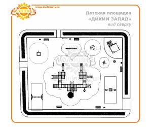 """T0005 - Тематическая площадка """"Дикий Запад"""" 462м2"""