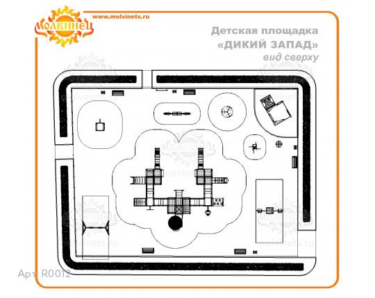 """R0012 - Тематическая площадка """"Дикий Запад"""" 462м2"""
